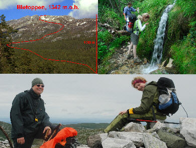 Hike the mountaintop Bletoppen of the Blefjell