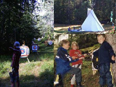 Camps with archery and other activities in Hovin i Telemark, Norway