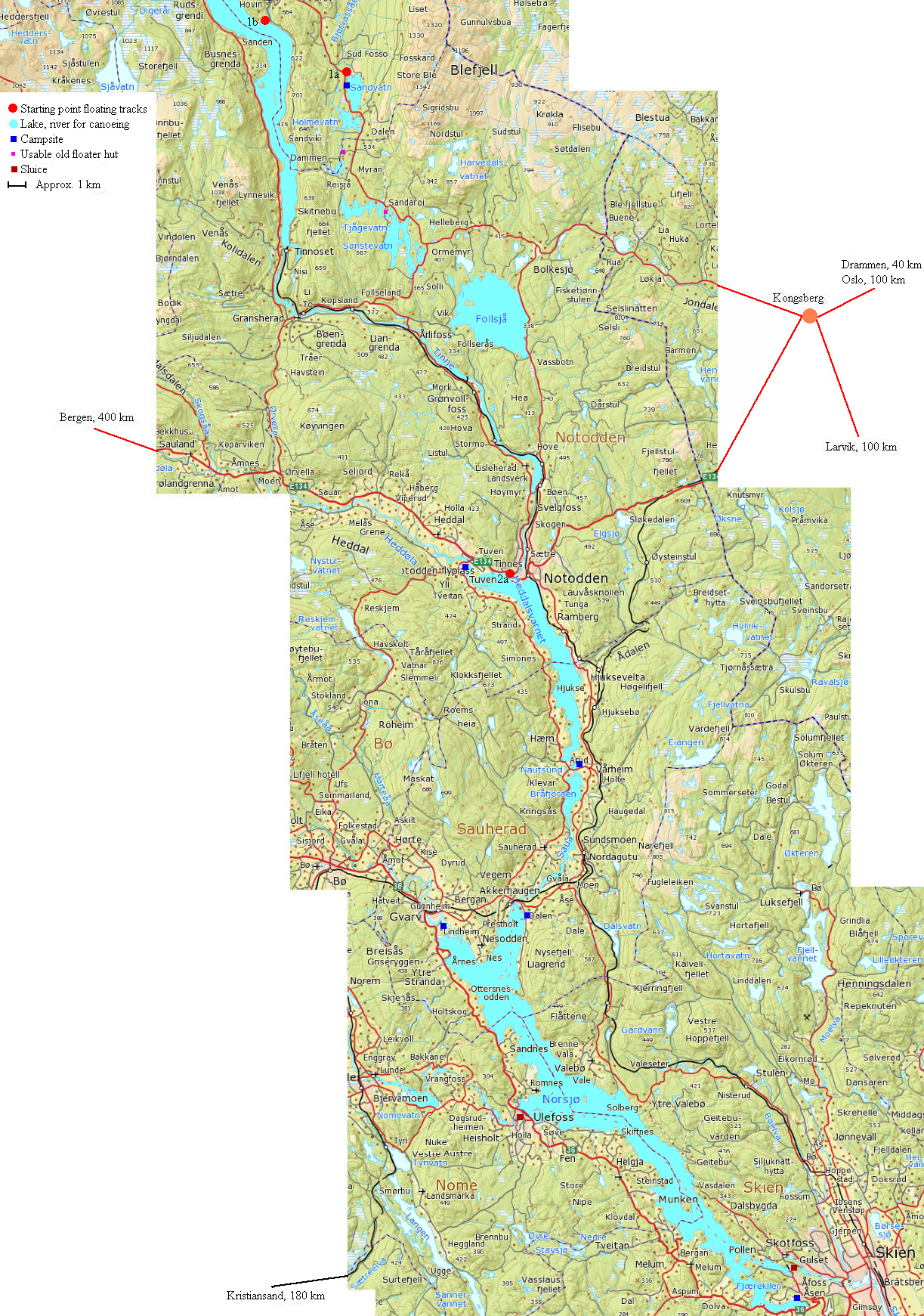 Map Of Waterways Of Norway Pictures To Pin On Pinterest PinsDaddy - Norway lakes map